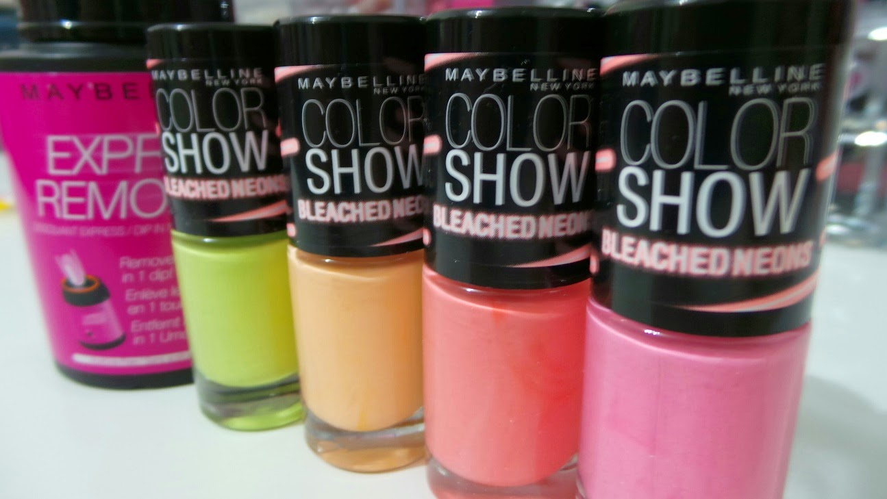 Maybelline color show – bleached Neons
